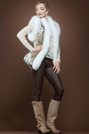 zandra rhodes american lynx and fox fur vest ml furs