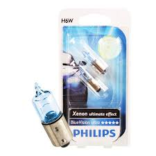 philips h6w blue vision ultra 12v 6w socket bax9s bulbs bulb