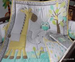 baby bedding set 100 cotton crib bedding set embroidery owl