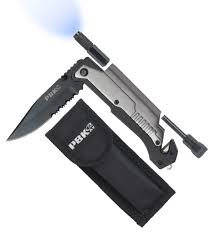 tactical survival pocket knife razor sharp stainless steel 5 in 1
