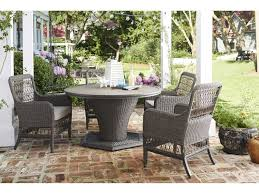 paula deen outdoor dogwood wicker dining set dogwoodset8