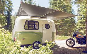 volkswagen camper trailer this retro camper trailer was inspired by vintage design curbed