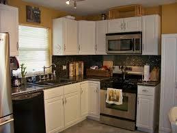 Range Hood Backsplash by Granite Countertop Best Mid Range Kitchen Cabinets Range Hood