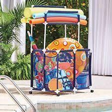 Ball Organizer Garage - pool storage ball organizer bin swimming accessories and kids ebay