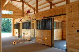 foam insulation in roof horse barn stall design look
