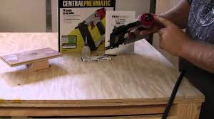 Menards Roofing Nailer by Harbor Freight Tools Brad Nailer Quick Out Of The Box Review On A