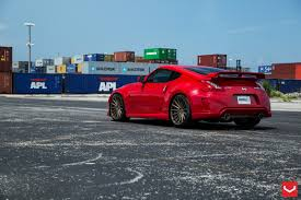 red nissan stanced red nissan 370z on 20 inch vfs concave vossen rims u2014 carid