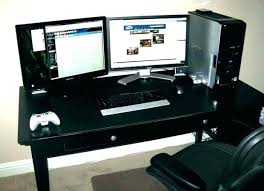 best desk for dual monitors computer desk for multiple monitors multi monitor computer desk