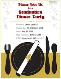 Dinner Invitation Graduation Dinner Invitations Which Perfect For You Thewhipper Com