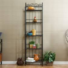 baker s racks kitchen storage furniture the home depot celtic 19 25 in w baker s rack in gunmetal