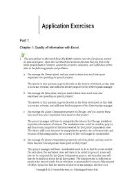 Applications Of Spreadsheets Solution Manual For Experiencing Mis 3e David Kroenke