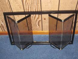 wood stove glass doors zero clearance black fireplace bi fold tinted glass door 35 1 2