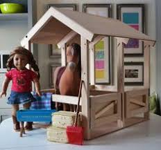 Free Wooden Toy Barn Plans by Doll Sized Handmade Wood Toy Stable Barn Corral For Up To 19