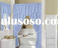 Double Shower Curtains With Valance Double Swag Shower Curtain With Valance Decorticosis