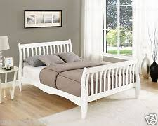 White Sleigh Bed White Sleigh Bed Frames Ebay