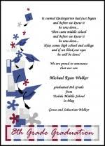 8th grade graduation cards create graduation announcements invitations for 8th grade middle