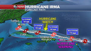 hurricane irma strengthens to category 5 as 2nd storm forms behind