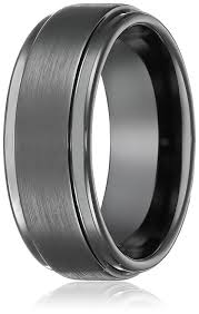 tungsten black rings images 8mm black high polish tungsten carbide men 39 s wedding band ring in jpg