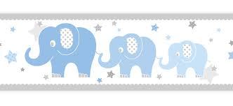 bordüre kinderzimmer selbstklebend dinki balloon kinderzimmer bordüre elefanten blau grau