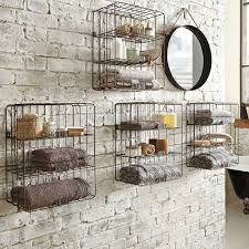 Bathroom Linen Storage Ideas Colors Rustic Bathroom Shelving Brown Polished Ebony Wood Floating Linen