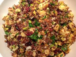 quinoa thanksgiving stuffing cook in dine out roasted parsnip quinoa salad with shallot