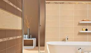 narrow beige bathroom tile paired with wooden tables also vanity bathroom with beige ceramic tiles and wood floor stock photo
