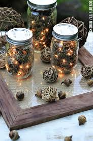 Mason Jar Ideas For Weddings Fall Table Decor Mason Jar Firefly Lanterns