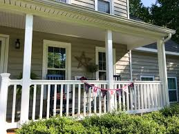 Front Porch Topiary Farmhouse Style Patriotic Summer Front Porch Jersey In The