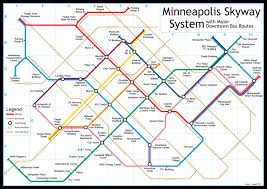 Map Of Minneapolis Skyway My Way Like Google Maps For The Minneapolis Skyway System