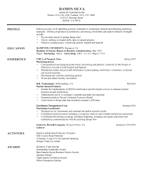 entry level management resume samples entry level marketing
