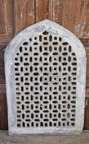 stone jali arch panel with geometric design sold