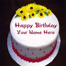 birthday cakes online write your name on happy birthday cake online