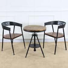 cafe table and chairs bao creative hair retro wood coffee table tea table iron bar tea