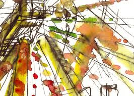 ferris wheel watercolor sketch rainbow carnival sketch