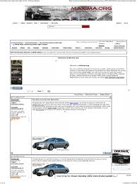 nissan maxima brake light switch replacement internet forum