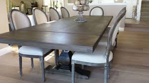 dining and kitchen tables farmhouse industrial modern pecan trestle dining table by jeff santini