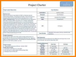 Six Sigma Project Charter Template Excel Exle Lss Project Charter Lean Six Sigma Bord Team