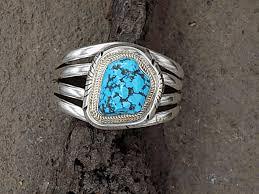 cuff bracelet with stones images Artist jon moray large stone turquoise cuff bracelet cloud jpg
