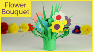 kids crafts paper flower bouquet easy step by step tutorial