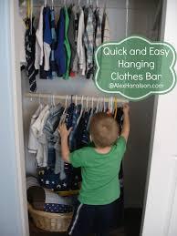 alex haralson hanging clothes bar for kid u0027s closets diy storage