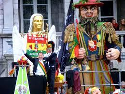 carnaval prins optocht in maastricht bij het uitroepen van de nieuwe prins carnaval