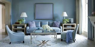 Blue And Brown Living Room by