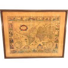 Antique World Map by Antique World Map Nova Totius Terrarum Orbis Geographica Ac From