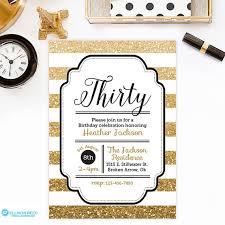 gold glitter 30th birthday invitation by ellisonreed