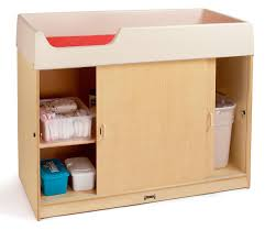 Children S Table With Storage by Birch Wood Changing Table Lockable Doors