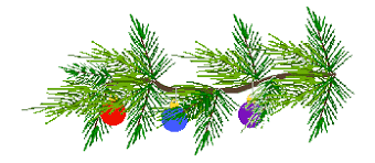 Christmas Decorations With Pine Tree Branches by Christmas Clip Art Pine Tree Branches With Christmas Ornaments