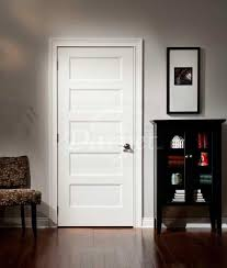 Primed Interior Doors 5 Panel Flat Door Conmore From Craftmaster Darpet Doors