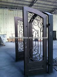 metal front doors with glass safety wrought iron entry doors glass front door business made in