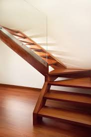 Laminate Flooring For Steps Staircase With Wooden Band And Steps By Marretti Made In Italy