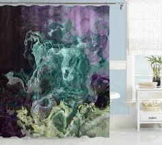 Purple Bathroom Curtains Contemporary Shower Curtain Abstract Bathroom Decor